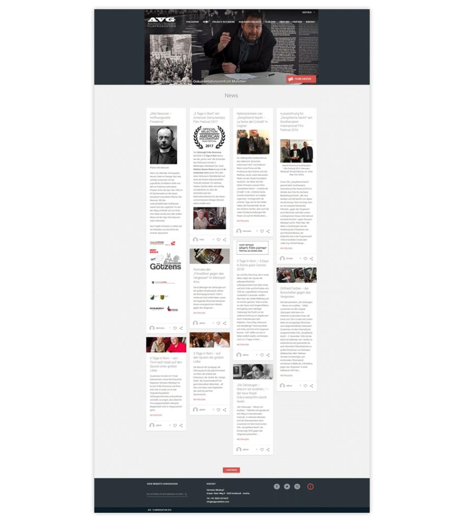 Web site – AVG Produktion